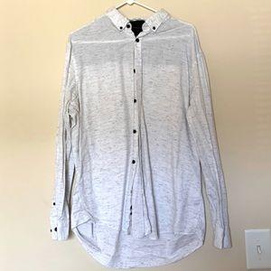Alfani white button down dress shirt